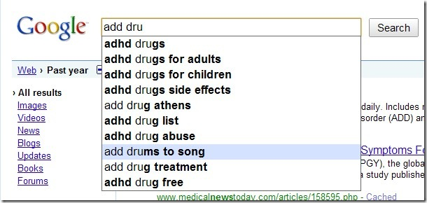 google-suggested-search-function